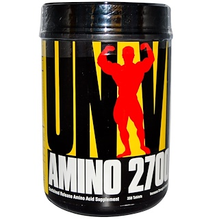 Universal Nutrition, أمينو 2700، مخرج حمض أميني دائم، مكمل غذائي، 350 قرص