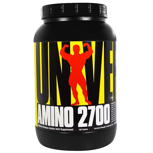 Universal Nutrition, Amino 2700, Sustained Release Amino Acid Supplement, 700 Tablets (Discontinued Item)