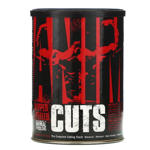 Animal Cuts, Ripped & Peeled, Training Supplement, 42 Packs
