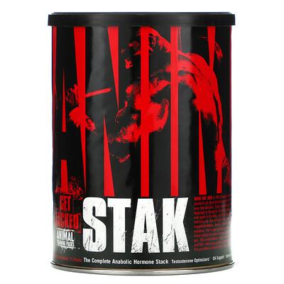 Купить Universal Nutrition Animal Stak, полный набор ускоряющих обменные процессы гормонов, 21пакетик