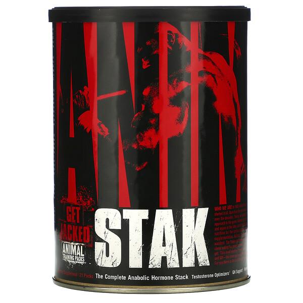 Universal Nutrition, Animal Stak, Optimizadores de Testosterona, 21 Paquetes