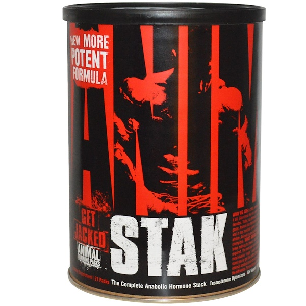 Universal Nutrition, Animal Stak, Testosterone Optimizers، 21 حزمة