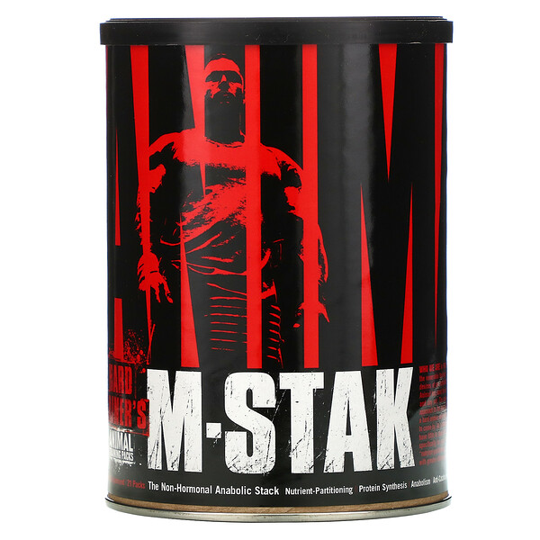 Animal M-Stak, The Non-Hormonal Anabolic Stack, 21 Packs