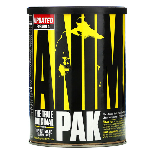 Universal Nutrition, Animal Pak, The Ultimate Training Pack, 30 Packs