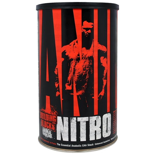 Universal Nutrition, Animal Nitro, The Essential Anabolic EAA Stack必需合成代謝氨基酸堆,44包