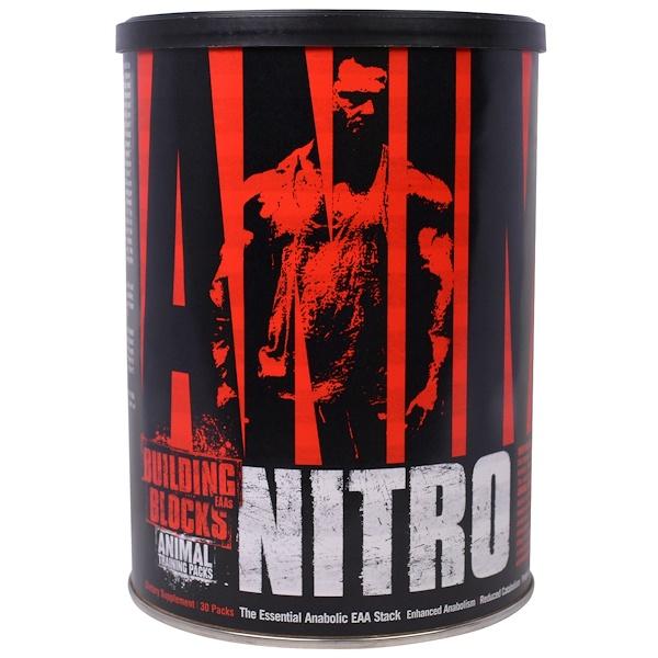 Universal Nutrition, Animal Nitro, базовый анаболический пакет незаменимых аминокислот, 30 упаковок (Discontinued Item)
