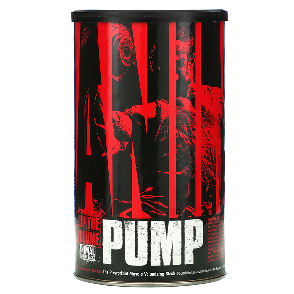 Animal Pump,  Preworkout Muscle Volumizing Stack, 30 Packs