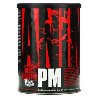 Universal Nutrition, Animal PM, The Nighttime Anabolic Recovery Stack, anabole Regenerationsmischung für die Nacht, 30Packungen