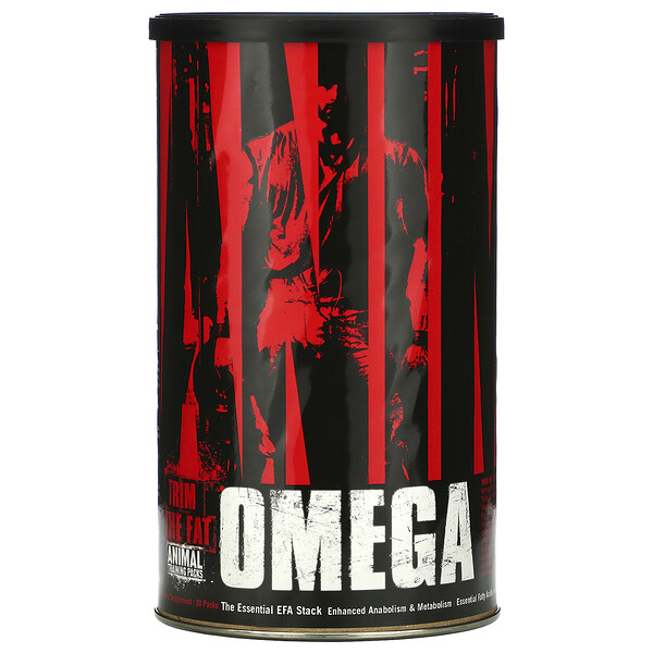 Universal Nutrition, Animal Omega, The Essential EFA Stack, 30 Packs