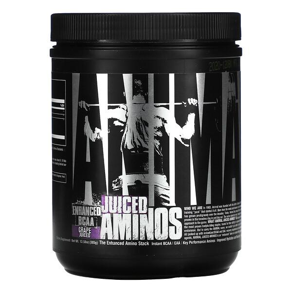 Animal Enhanced BCAA, Juiced Aminos, Grape Juiced, 13.58 oz (385 g)
