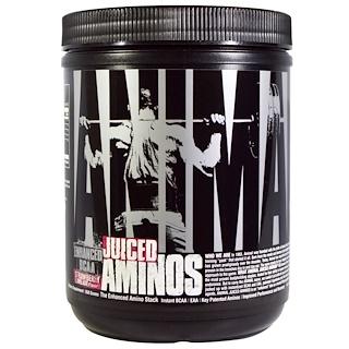 Universal Nutrition, Animal Juiced Aminos,  усовершенствованные аминокислоты с разветвленной цепью, клубника-лайм, 358 г
