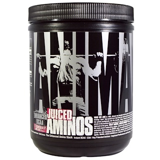 Universal Nutrition, アニマル・ジュースドアミノ、 エンハンスド BCAA、 ストロベリーライムエイド味、 358 g