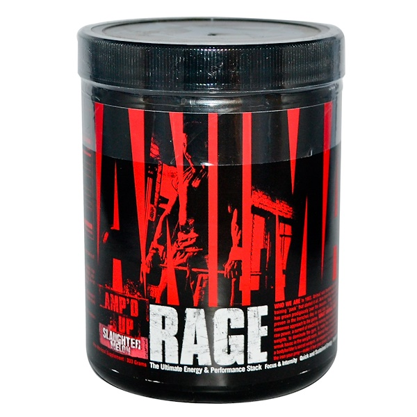Universal Nutrition, Animal Rage, The Ultimate Energy & Performance Stack, Slaughter Melon, 333 g (Discontinued Item)