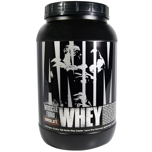 Universal Nutrition, Animal Whey, Muscle Food, Chocolate, 2 lb (907 g) (Discontinued Item)