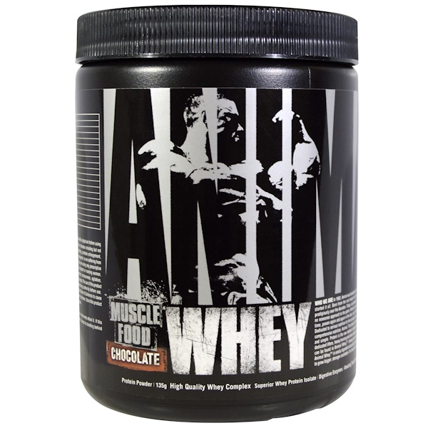 Universal Nutrition, Animal Muscle Food, Whey, Chocolate, (135 g) (Discontinued Item)