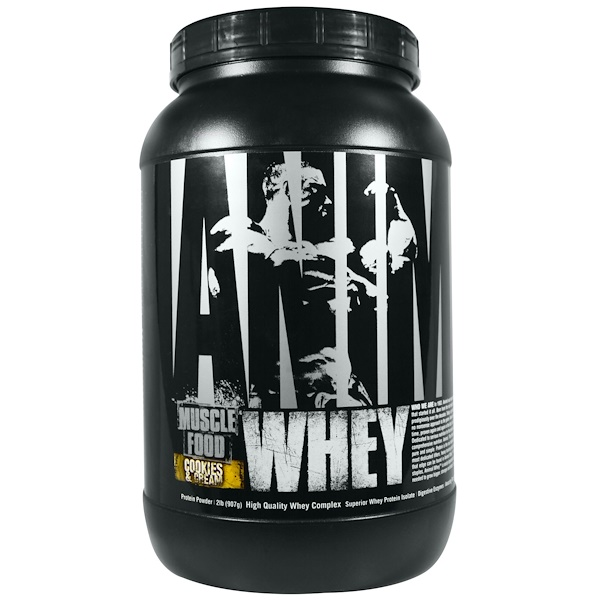 Universal Nutrition, Animal Muscle Food, Whey, Cookies & Cream, 2 lb (907 g) (Discontinued Item)