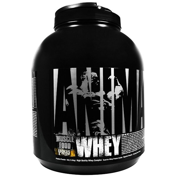 Universal Nutrition, Animal Whey, Muscle Food, Cookies & Cream, 4 lbs (1.81 kg) (Discontinued Item)