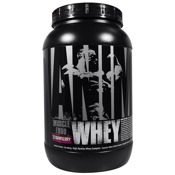 Universal Nutrition, Animal Muscle Food, Whey, Strawberry, 2 lb (907 g) (Discontinued Item)