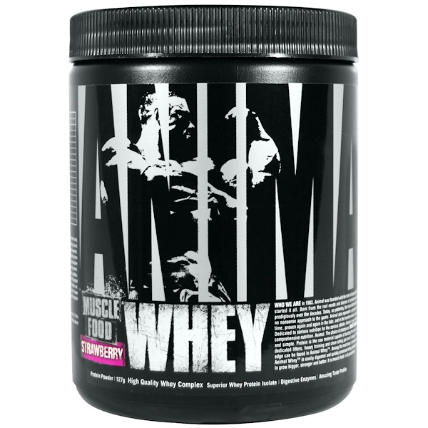 Universal Nutrition, Animal Muscle Food, Whey, Strawberry, 127 g (Discontinued Item)