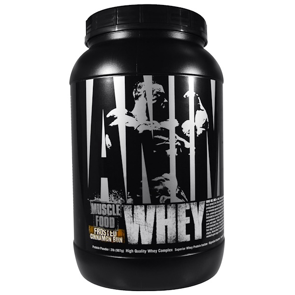 Universal Nutrition, Animal Muscle Food, Whey, Frosted Cinnamon Bun, 2 lb (907 g) (Discontinued Item)