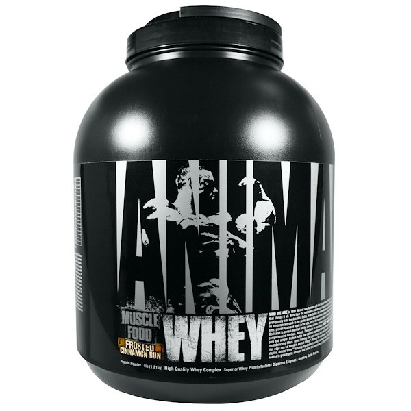 Universal Nutrition, Animal Muscle Food, Whey, Frosted Cinnamon Bun, 4 lb (1.81 kg) (Discontinued Item)