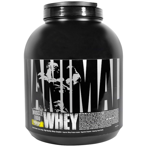 Universal Nutrition, Animal Whey, Muscle Food, Banana Cream, 4 lbs (1.81 kg) (Discontinued Item)
