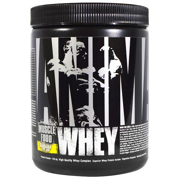 Universal Nutrition, Animal Whey Muscle Food, Banana Cream, 128.6 g (Discontinued Item)