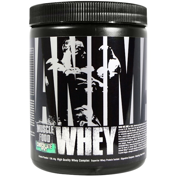 Universal Nutrition, Animal Whey, Muscle Food, Chocolate Mint, 136.44 g (Discontinued Item)