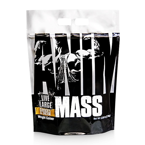 Universal Nutrition, Animal Mass, Cookies & Cream, 5.09 lb (2.3 kg) (Discontinued Item)