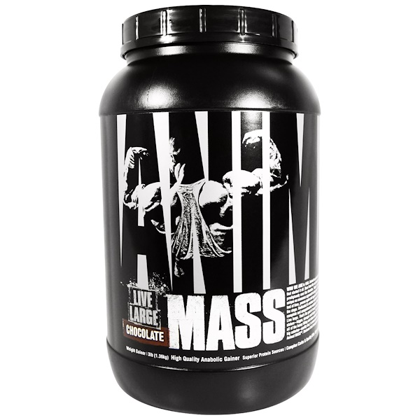 Universal Nutrition, Animal Mass, Chocolate, 3 lbs (1.36 kg) (Discontinued Item)