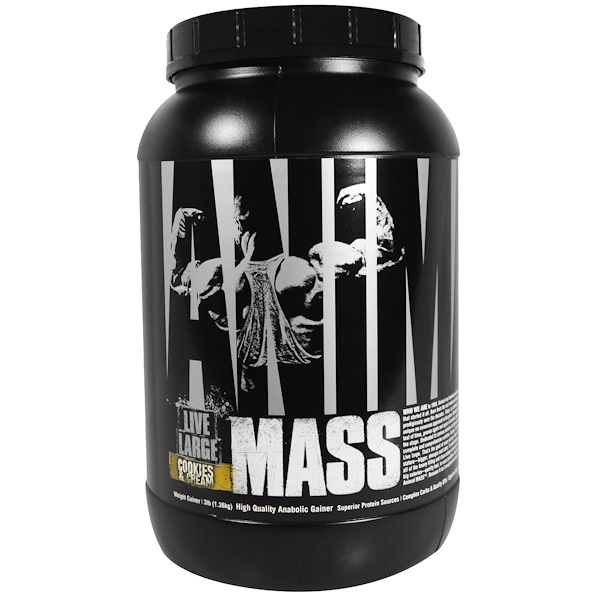 Universal Nutrition, Animal Mass, Cookies & Cream, 3 lb (1.36 kg) (Discontinued Item)