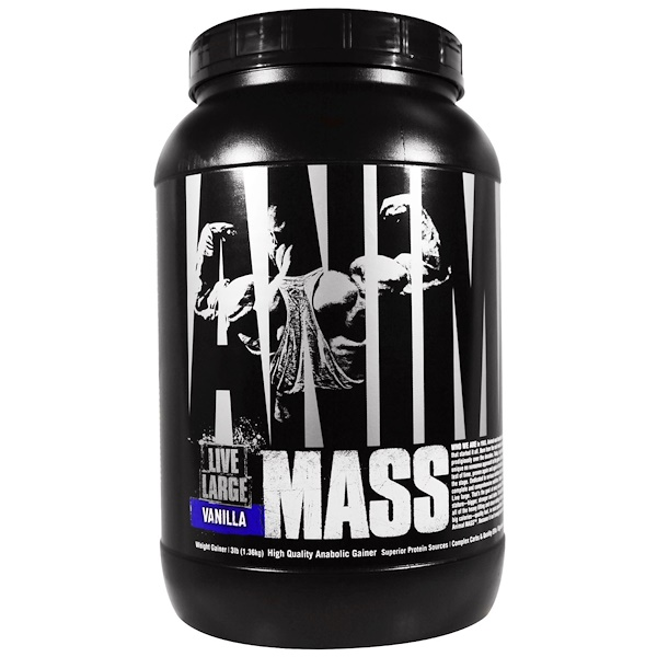 Universal Nutrition, Animal Live Large, Mass, Vanilla, 3 lb (1.36 kg) (Discontinued Item)