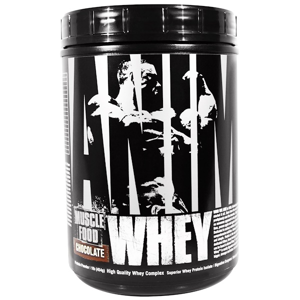 Universal Nutrition, Animal Muscle Food, Whey, Chocolate, 1 lb (454 g) (Discontinued Item)