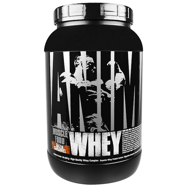 Universal Nutrition, Animal, сыворотка, питание мышц, соленая карамель, 2 фунта (907 г) (Discontinued Item)