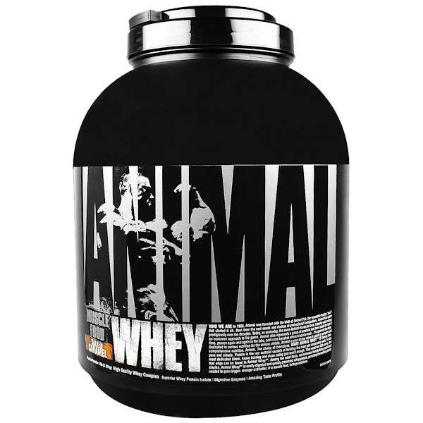 Universal Nutrition, Animal Whey, Muscle Food, Salted Caramel, 4 lbs (1.81 kg) (Discontinued Item)