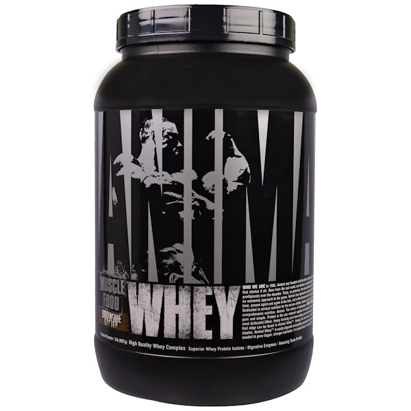 Universal Nutrition, Animal Whey, Muscle Food, Brownie Batter Protein Powder, 2 lb (907 g) (Discontinued Item)