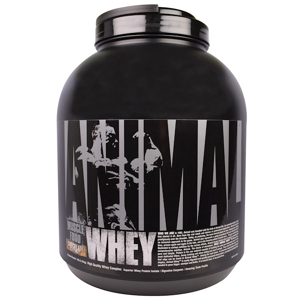 Universal Nutrition, Animal Whey, Muscle Food, Chocolate Coconut, 4 lb (1.81 kg) (Discontinued Item)