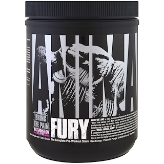 Universal Nutrition, Animal Fury, The Complete Pre-Workout Stack, Watermelon, 320.6 g