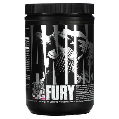 Купить Universal Nutrition Animal Fury, The Complete Pre-Workout Stack, Watermelon, 1.08 lb (492 g)