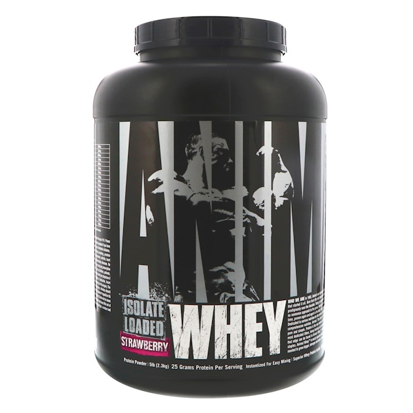 Universal Nutrition, Animal Whey  Isolate Loaded, Strawberry, 5 lbs (2、3 kg)