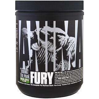 Universal Nutrition, Animal Fury، مصفوفة ما قبل التدريب الكاملة، تفاح أخضر، 330.6 غ