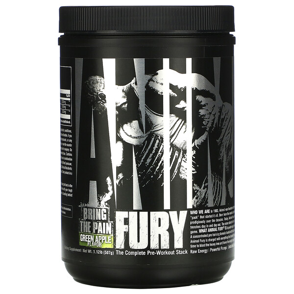 Animal Fury, Green Apple, 495.9 g