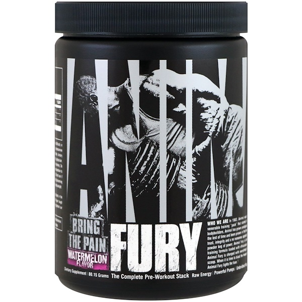 Universal Nutrition, Animal Fury, Watermelon, 80.15 g