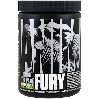 Universal Nutrition, Animal Fury, التفاح الأخضر، 82.65 جم