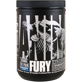 Universal Nutrition, Animal Fury, Blue Raspberry, 491.7 g