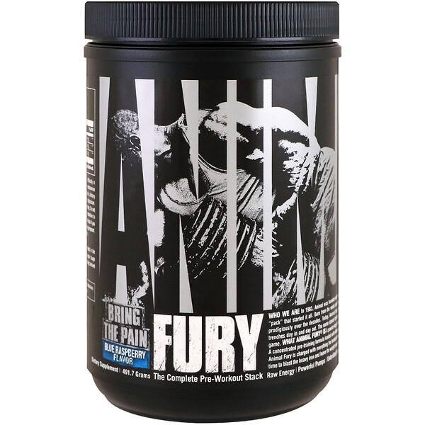 Universal Nutrition, Animal Fury 能量補充劑,樹莓口味,491、7 克