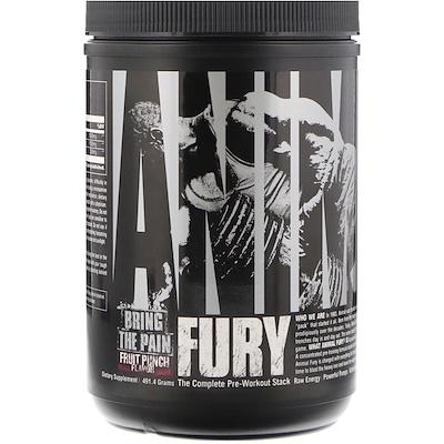 Купить Universal Nutrition Animal Fury, Fruit Punch, 491.4 g