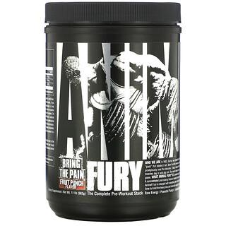 Universal Nutrition, Animal Fury, Fruit Punch, 1.1 lb (502 g)