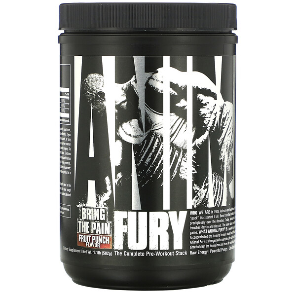 Universal Nutrition, Animal Fury,水果混合味,1.1 磅(502 克)