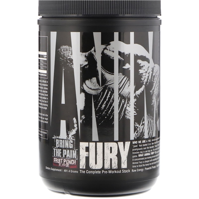 Animal Fury, Fruit Punch, 491.4 g